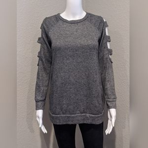 Filly Flair cold shoulder cutout sweatshirt